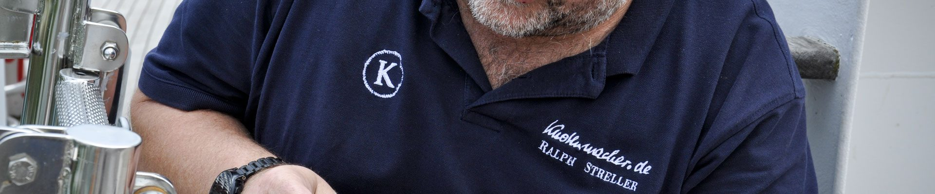 Der Knotenmacher Ralph Streller besucht den Rollisegler